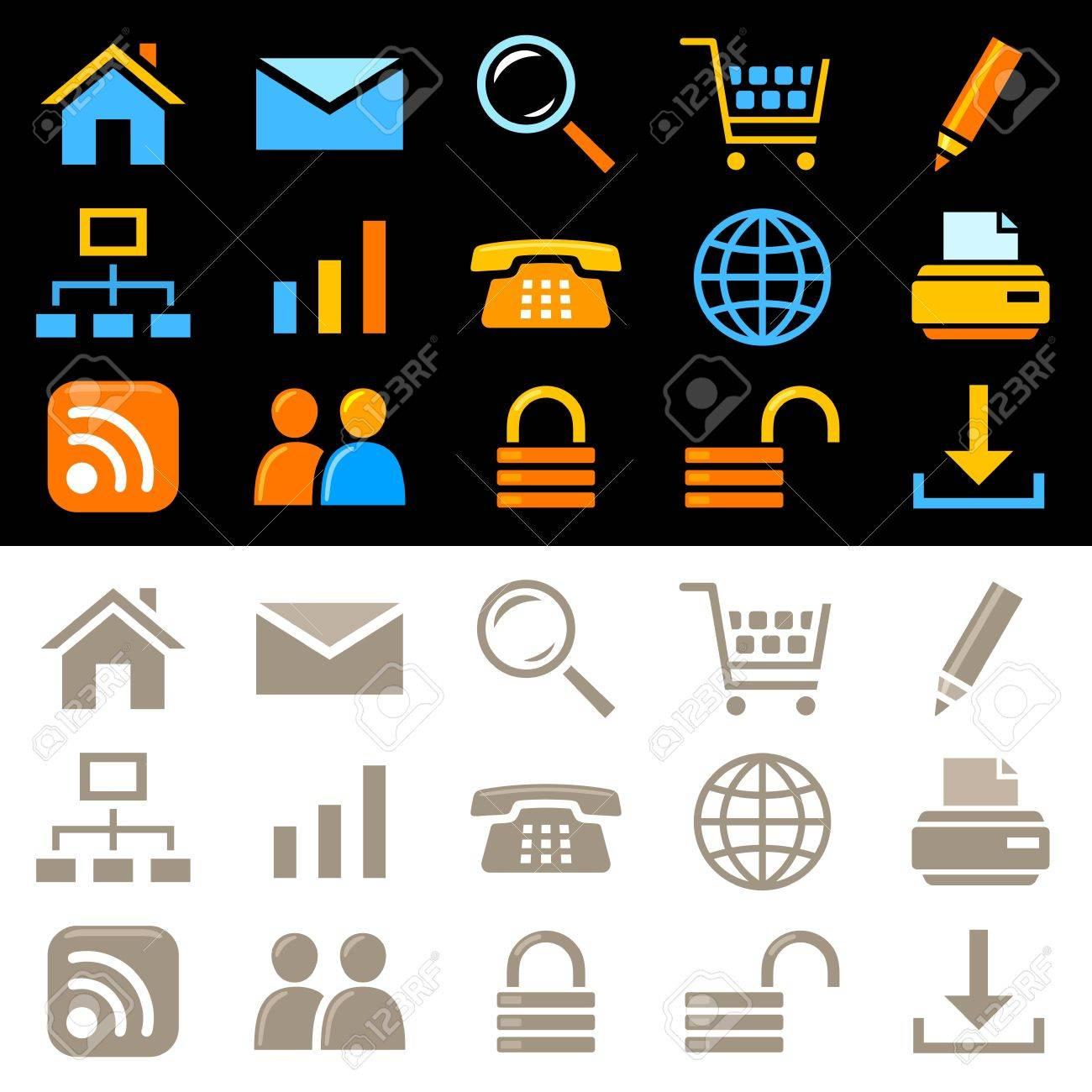Website icons Stock Vector - 11660622