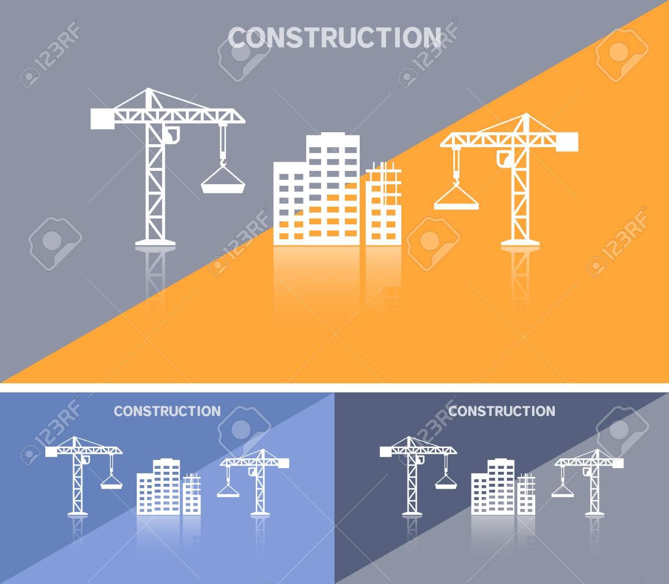 Carte De Visite Ou Banniere Web Avec Licone Du Site Construction