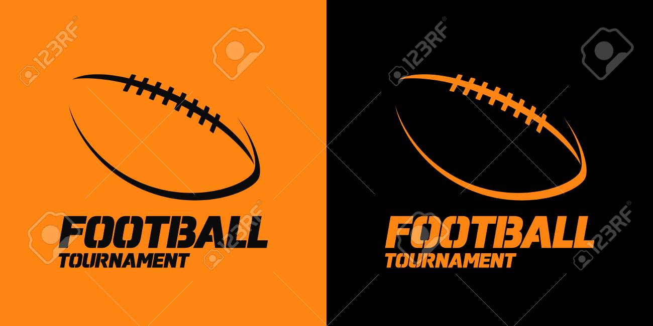 Banner Or Emblem Design With American Football Ball Silhouette Royalty Free Cliparts Vectors And Stock Illustration Image 98675387