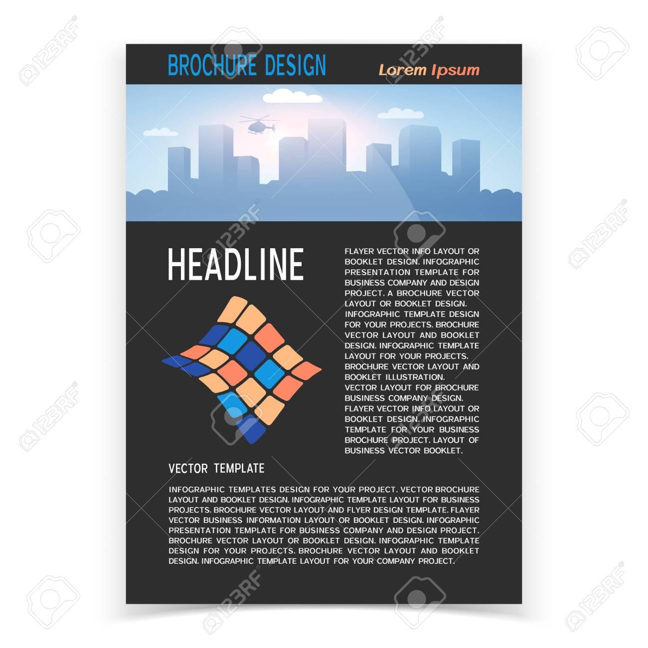 Brochure cover or web banner design. Vector illustration - 130488050