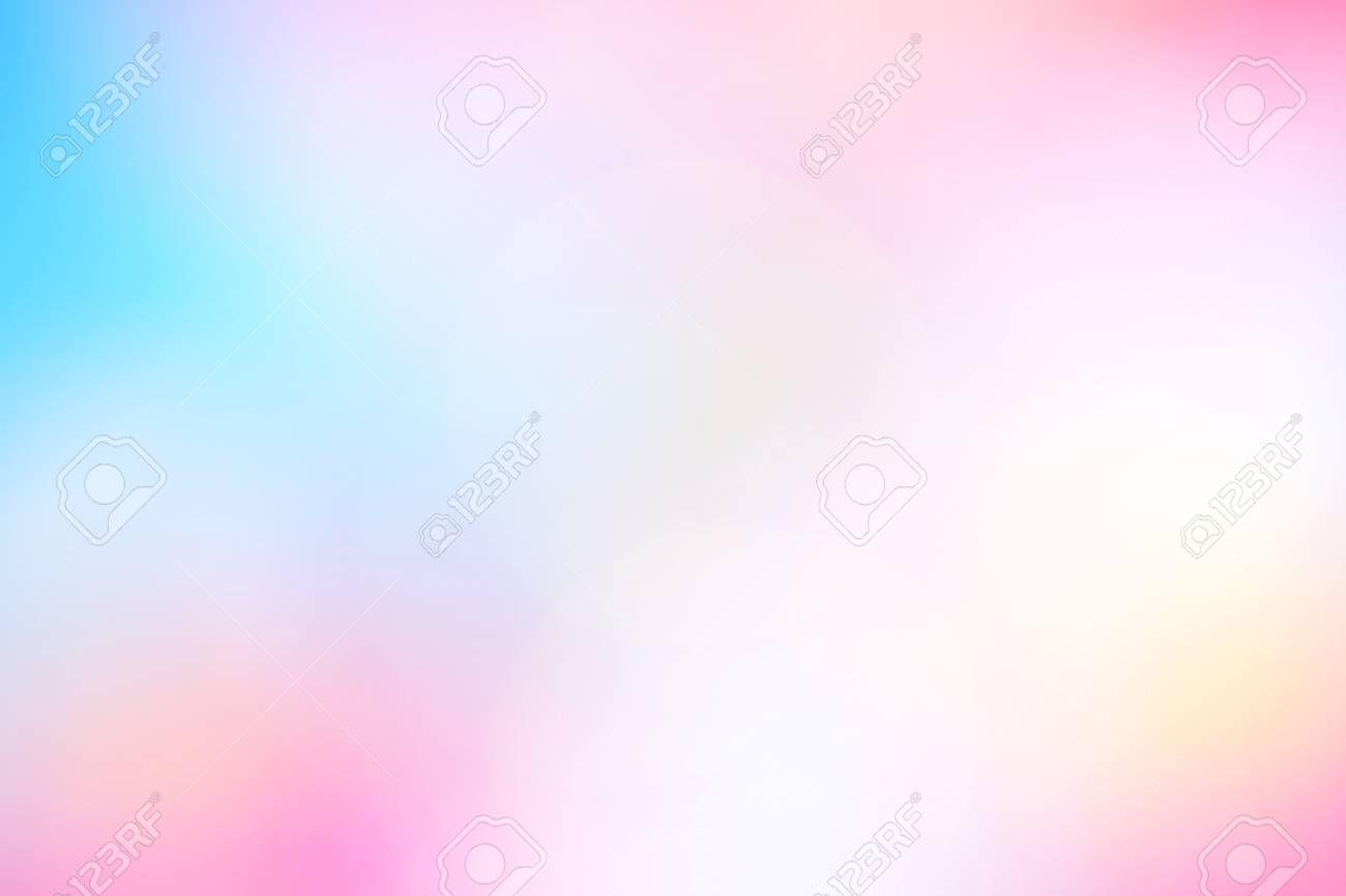 Blurred Soft Pink Blue Gradient Colorful Light Shade Bokeh Background