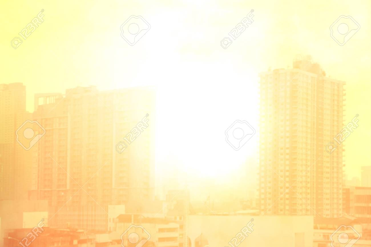 blurred city town landscape, pollution city sun light soft background, building and city landscape urban with atmosphere pollution and sunlight soft background - 106635852