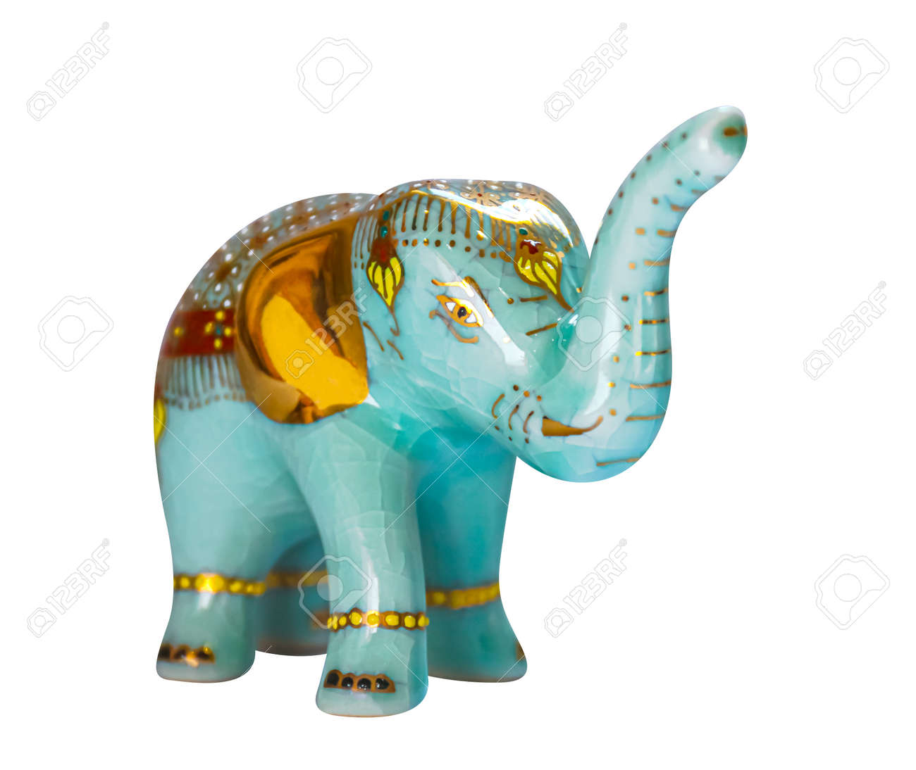 Ceramic Elephant Souvenir from Thailand isolated on white - 169068104