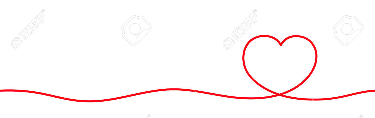 heart shape line art continuous in hand drawn graphic concept, doodle heart art line, illustration heart in a continuous line art - 170095792