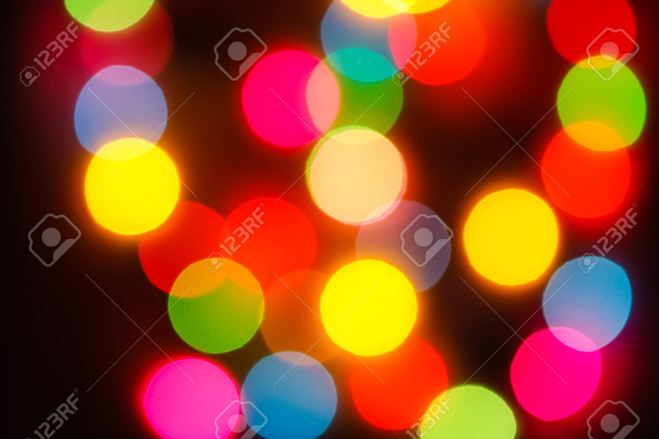 The bokeh soft light  colorful background Stock Photo - 27953372