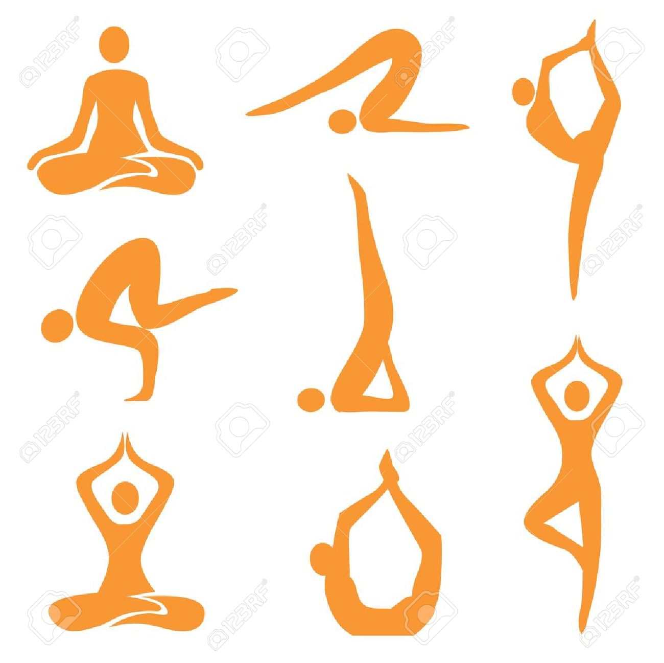 26,555 Yoga Icon Stock Vector Illustration And Royalty Free Yoga ...