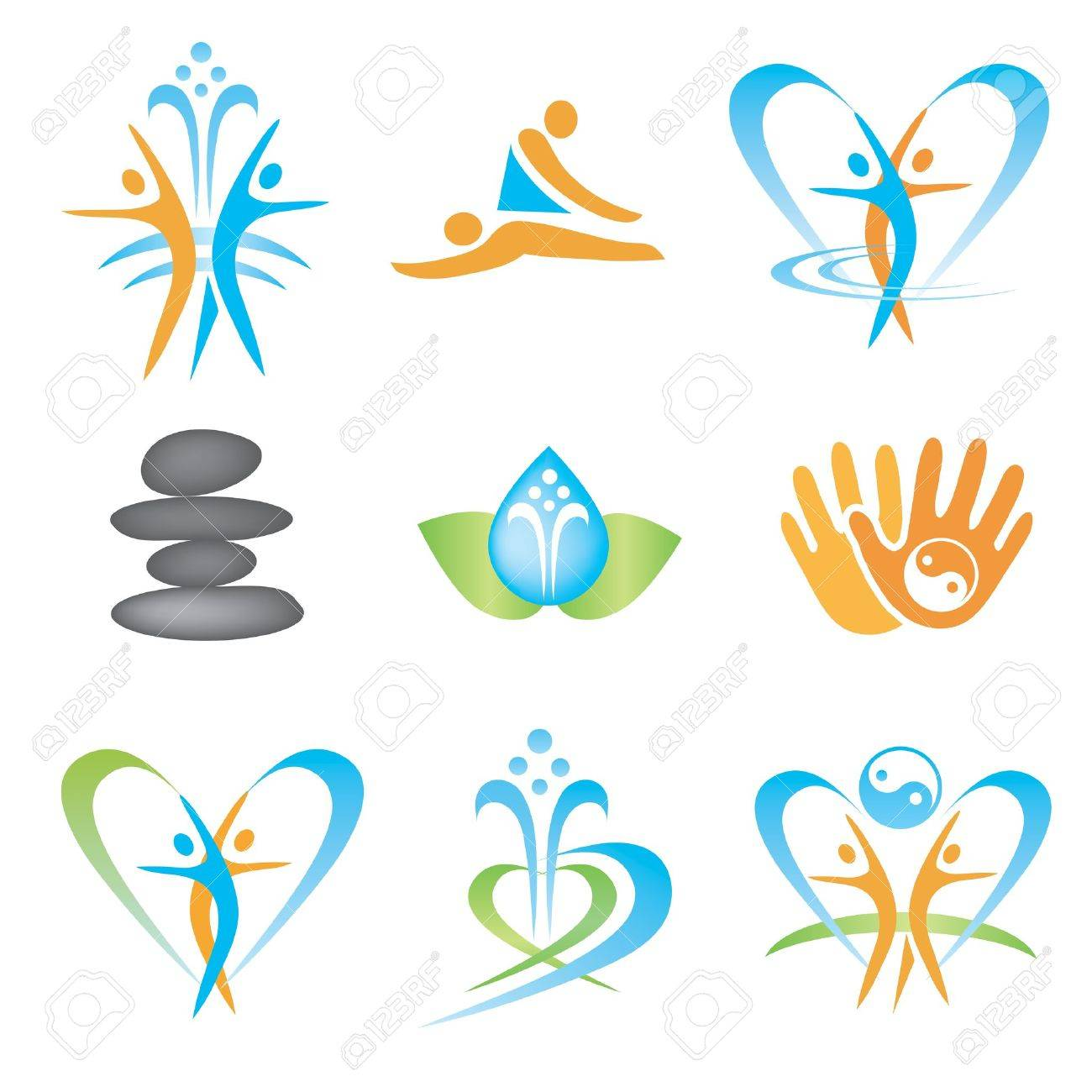 Spa_massage_health_icons Stock Vector - 18406312