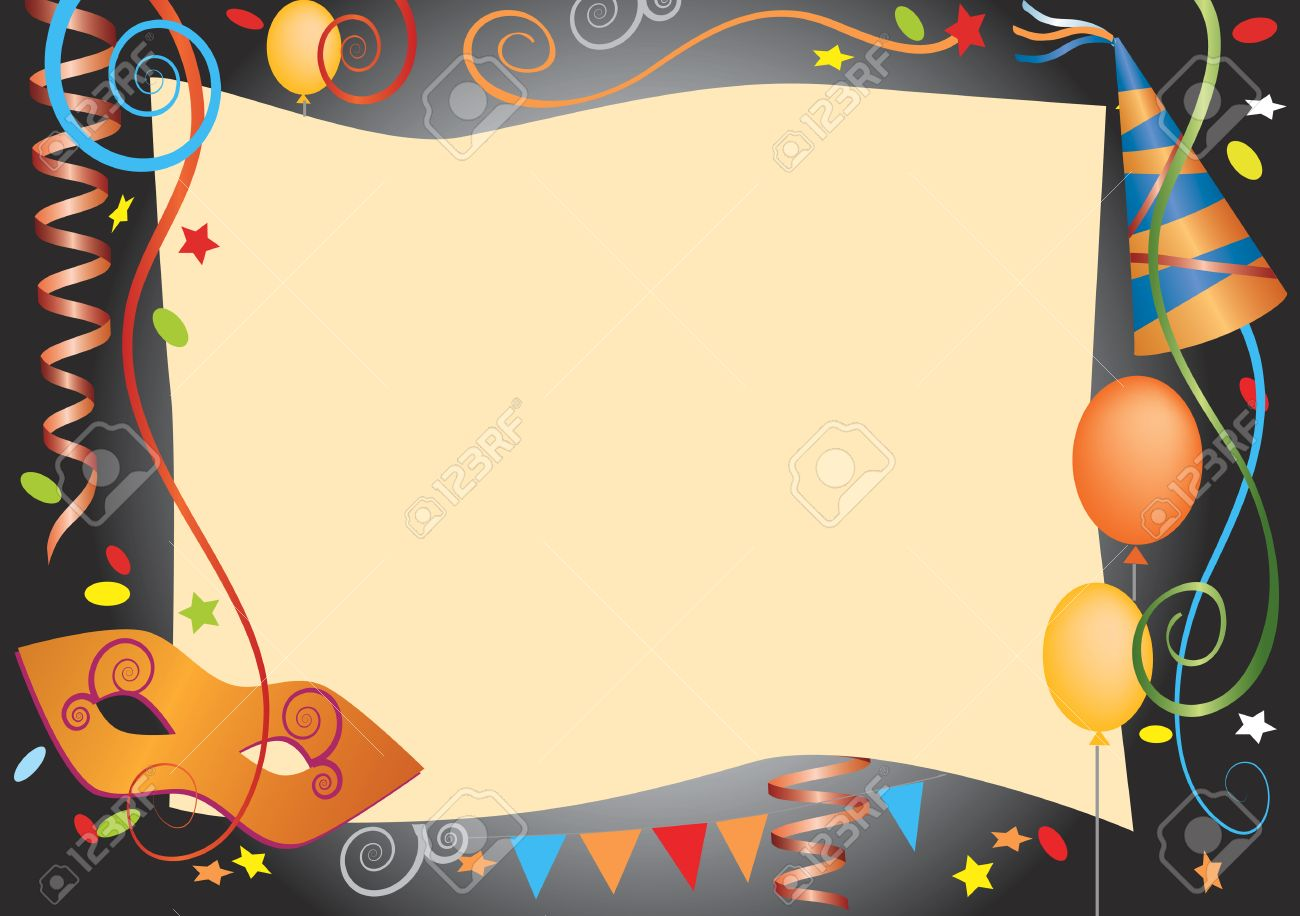 Vector Colorful Background For Carnival And Party Invitation