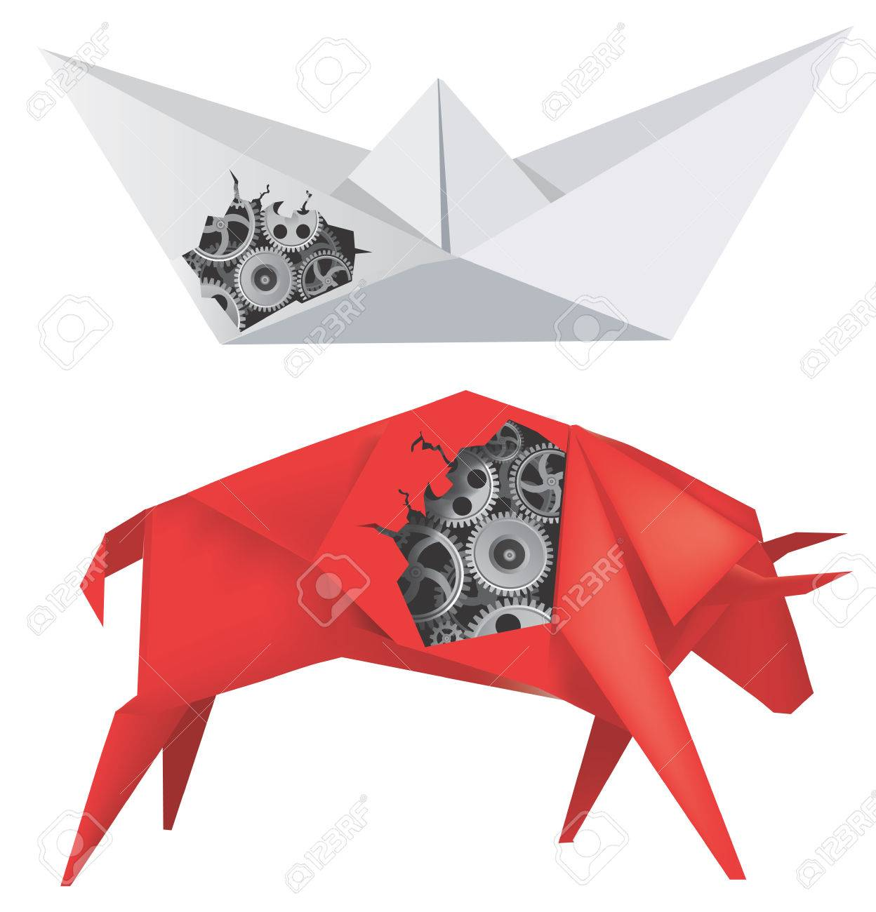 How to make an Origami Bull - Step by step instructions, Origami ... | 1300x1248