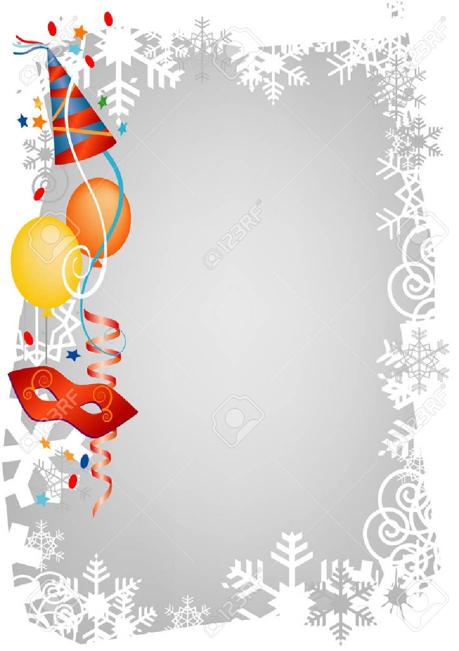 Background For Carnival And Party Invitation Cards With Colored