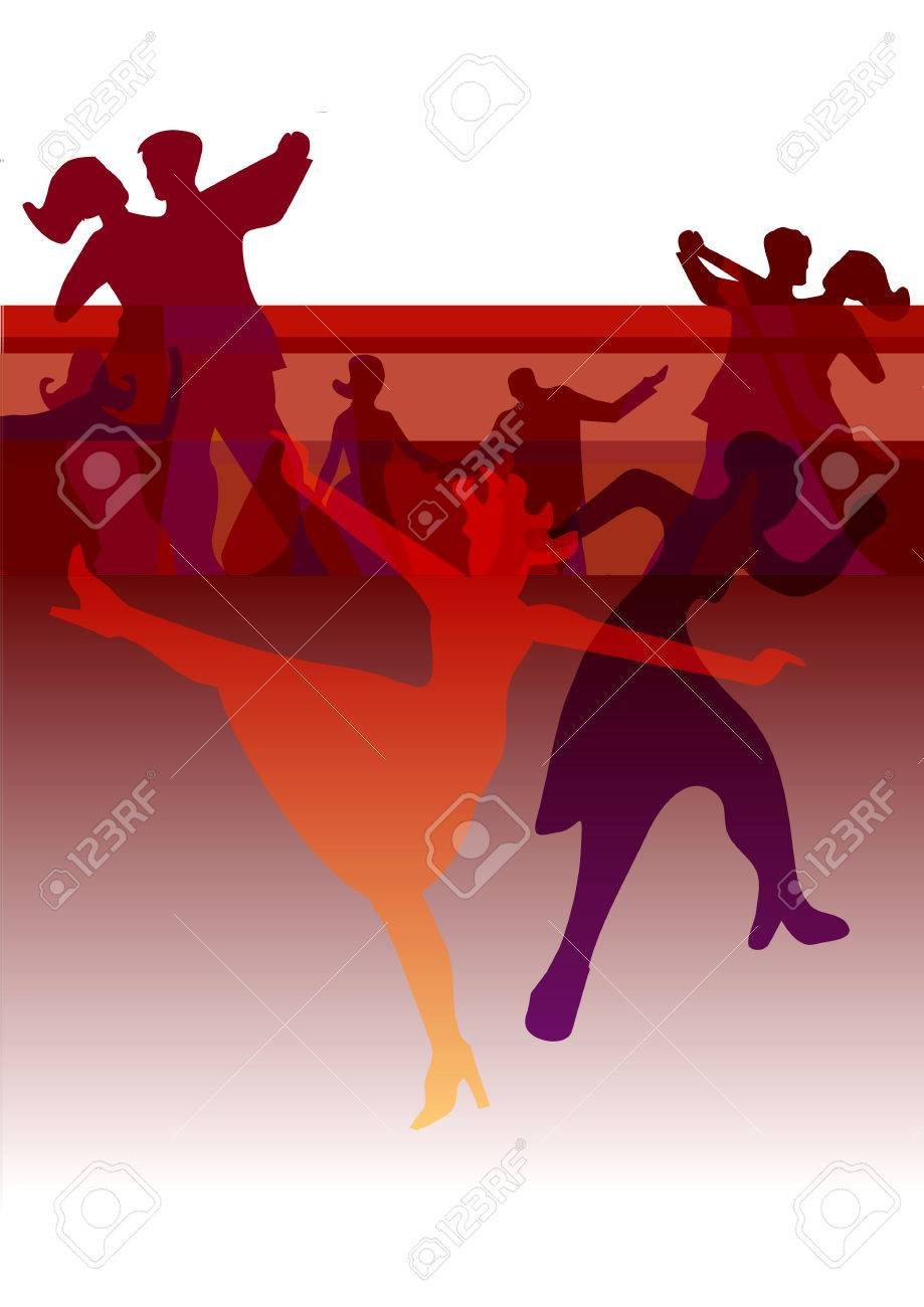 Dance Party Invitation Background. Colorful Background With Dancing ...