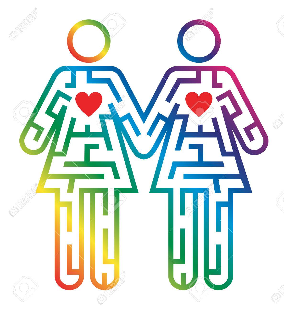 Maze shaped as gay female couple colorful pictogram symbolizing maze shaped as gay female couple colorful pictogram symbolizing searching for love vector available buycottarizona