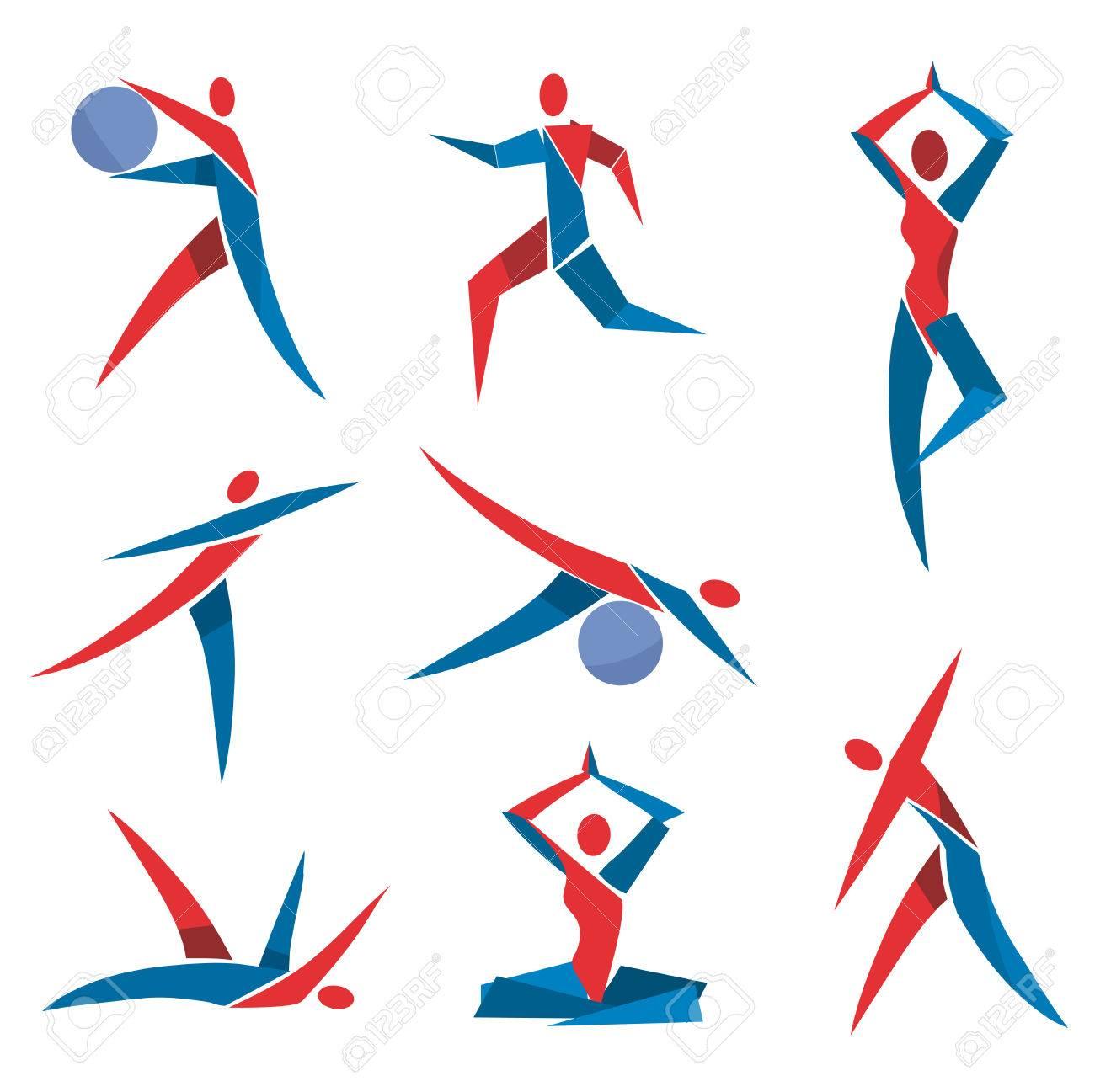 Super Icônes De Remise En Forme De Yoga. Jeu De Sport, Fitness, Yoga  WJ78