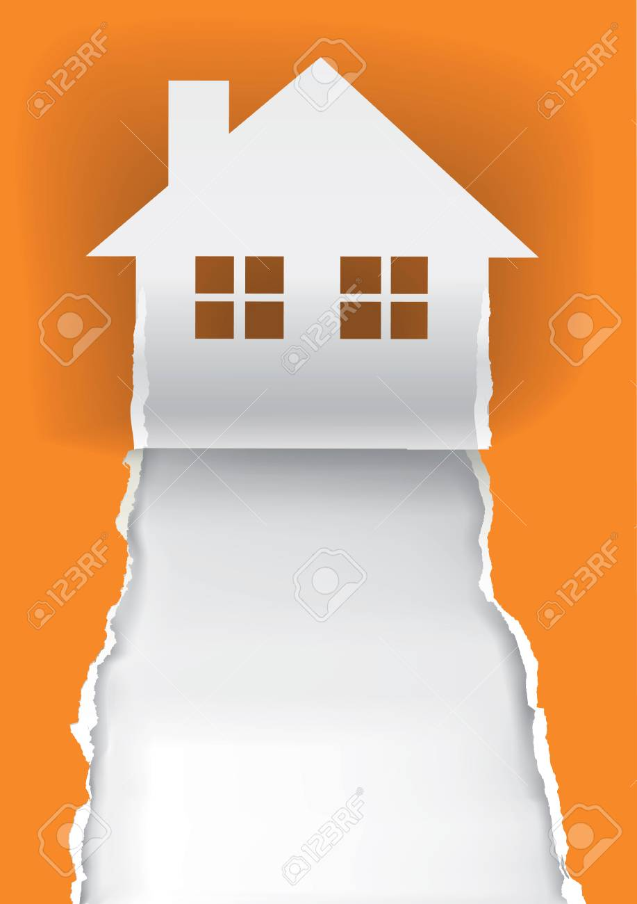 House For Sale Advertisement Template Illustration Of Ripped
