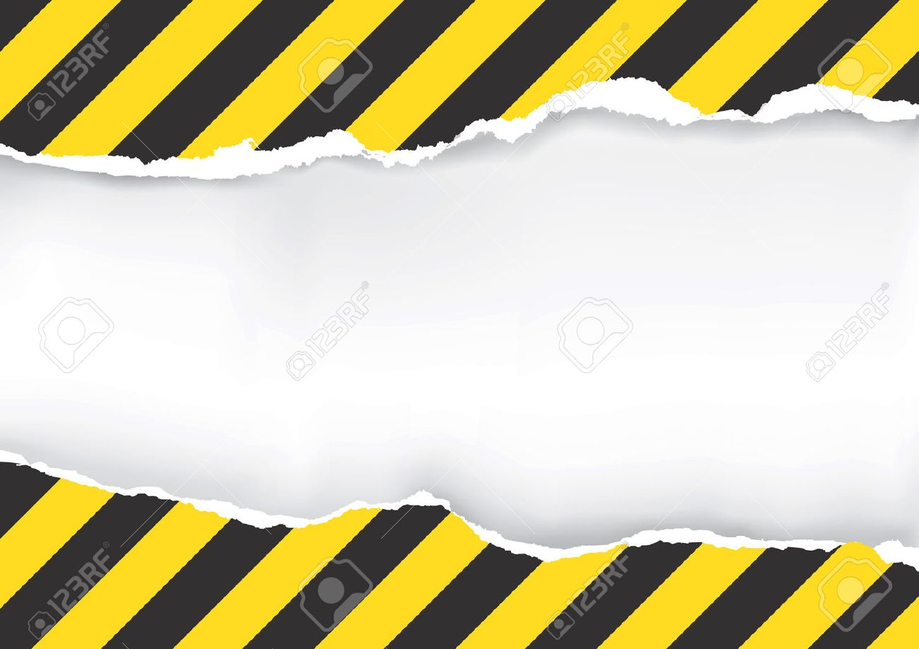 Ripped Paper With Construction Sign. Illustration of ripped paper with construction sign with place for your image or text. - 54566283