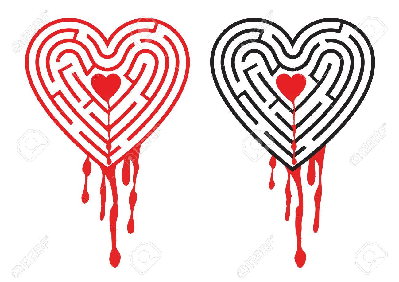 Maze bleeding heart the labyrinth in the shape of heart with maze bleeding heart the labyrinth in the shape of heart with dripping blood symbolizing sadness buycottarizona