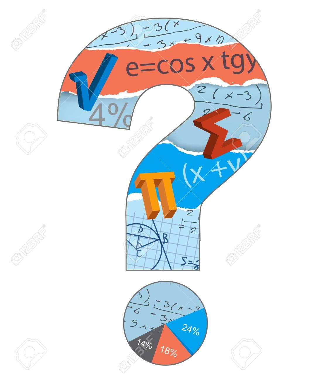 Math question mark mathematics symbols inside the question mark math question mark mathematics symbols inside the question mark on the white background vector available biocorpaavc