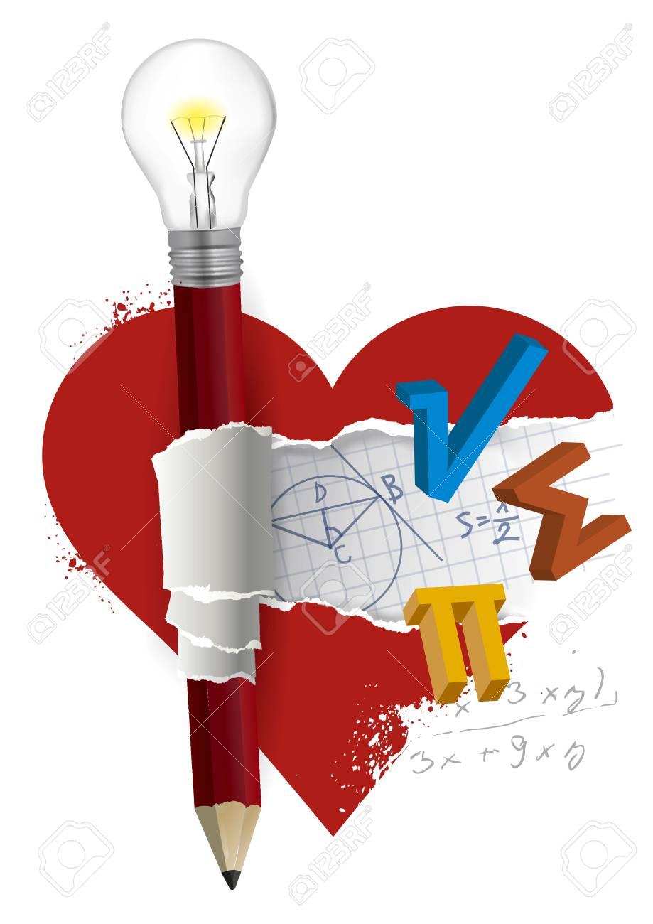 I Love Mathematics Fun Math Concept Mathematics Symbols Inside Royalty Free Cliparts Vectors And Stock Illustration Image 106778547