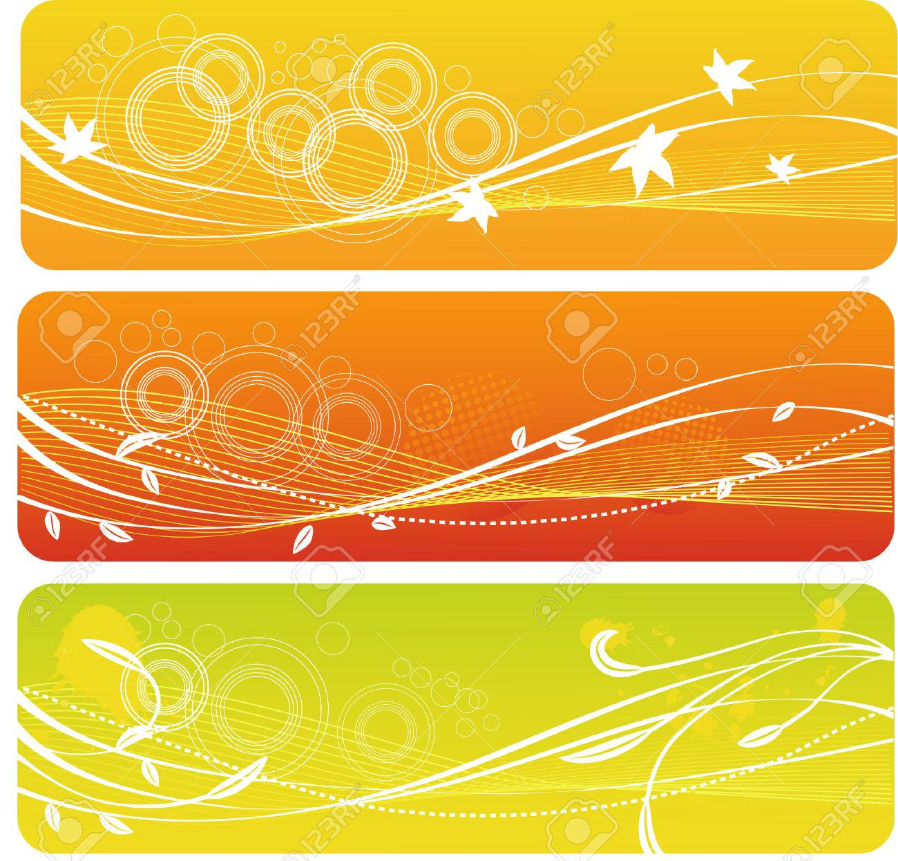 a set of autumn banners Stock Vector - 3487876