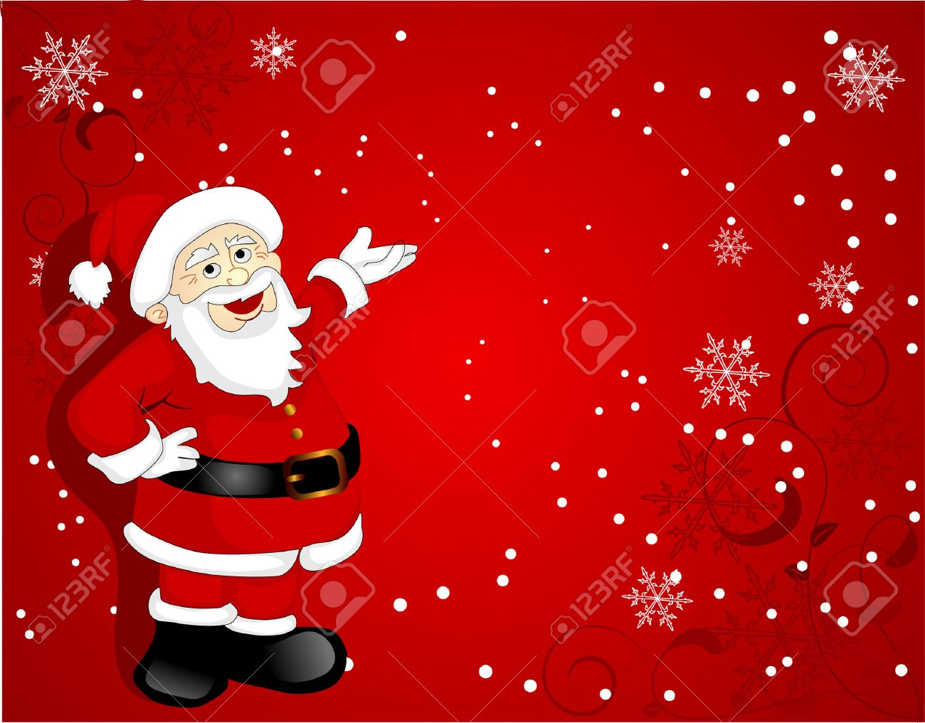 santa clause over red background royalty free cliparts vectors and stock illustration image 3948577 santa clause over red background