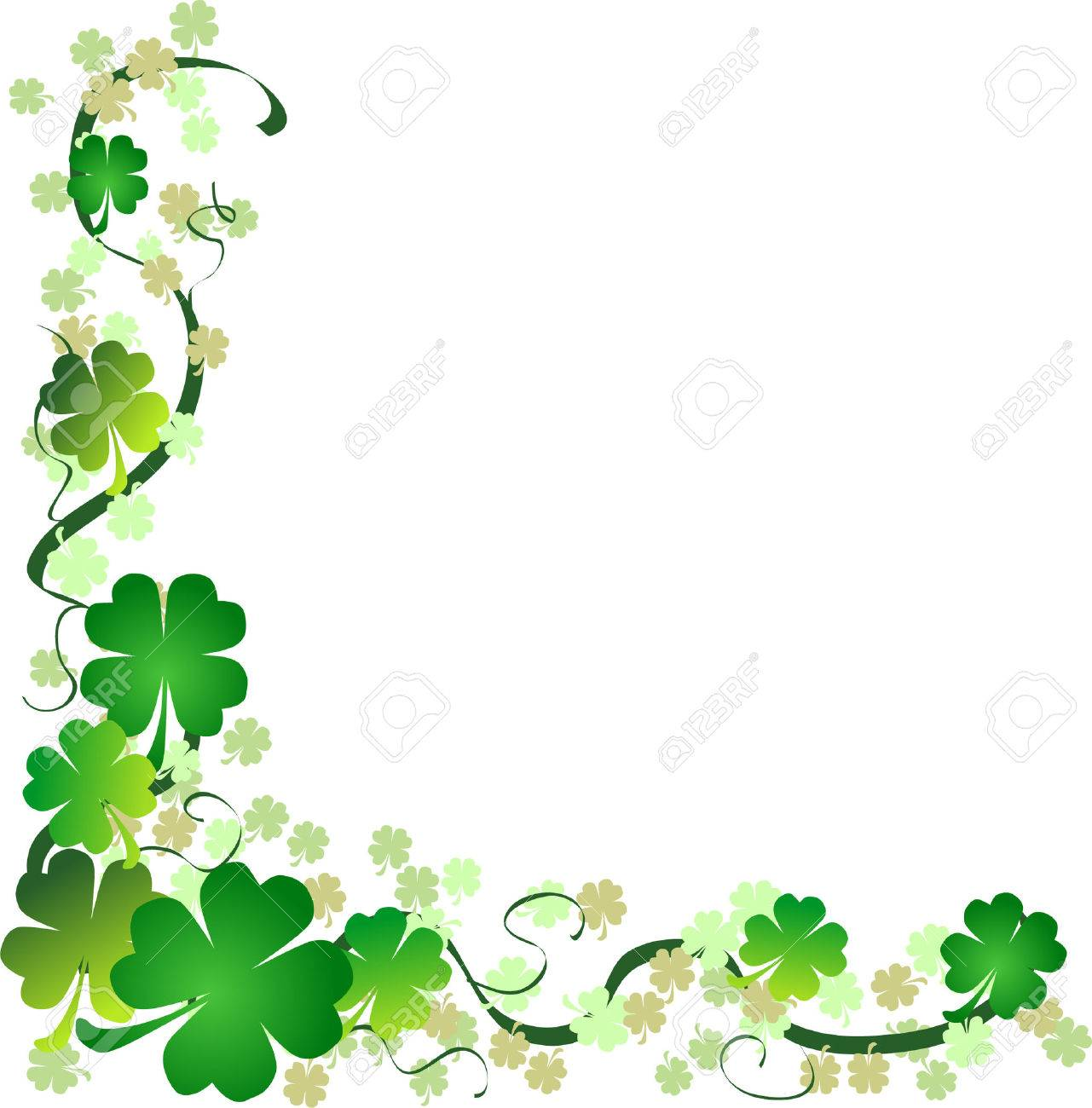 a st patrick u0027s day background with four leaf clovers royalty free