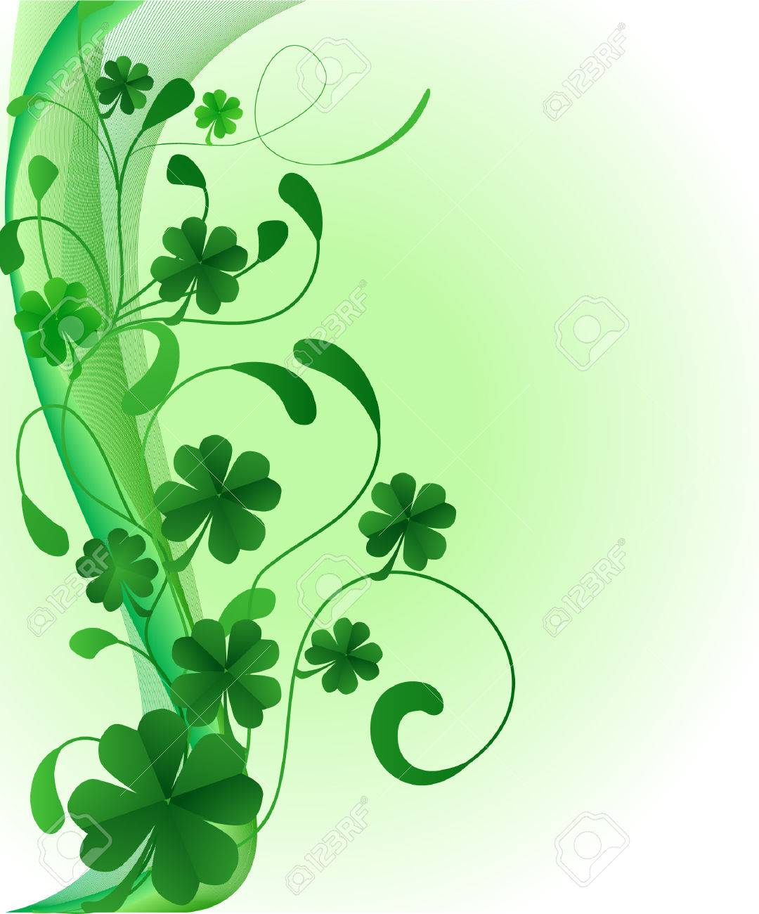 abstract saint patrick's day illustration Stock Vector - 4464957