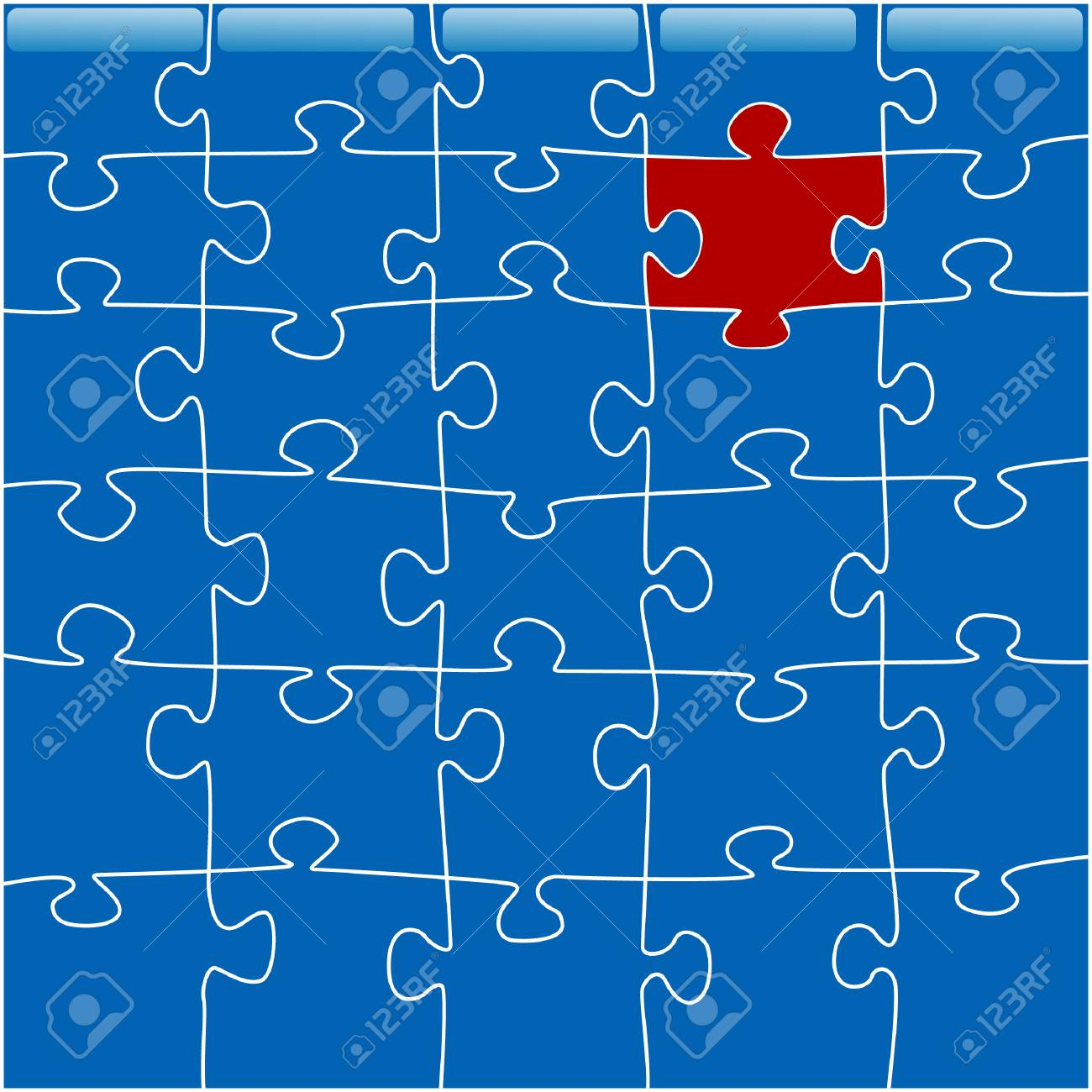 conceptual image of a zigzaw puzzle Stock Vector - 5514617