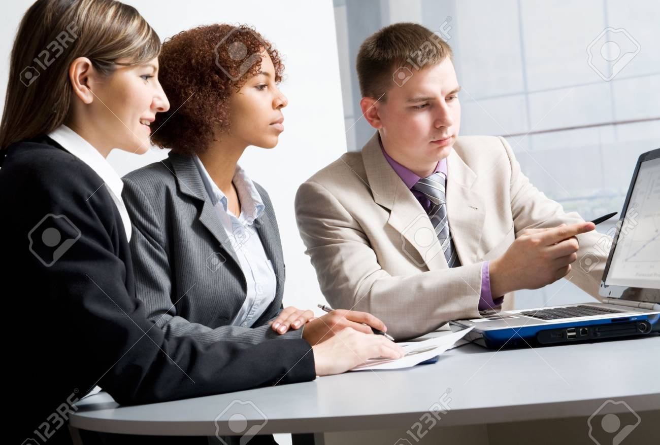 Business people discussing in a meeting Stock Photo - 6698707