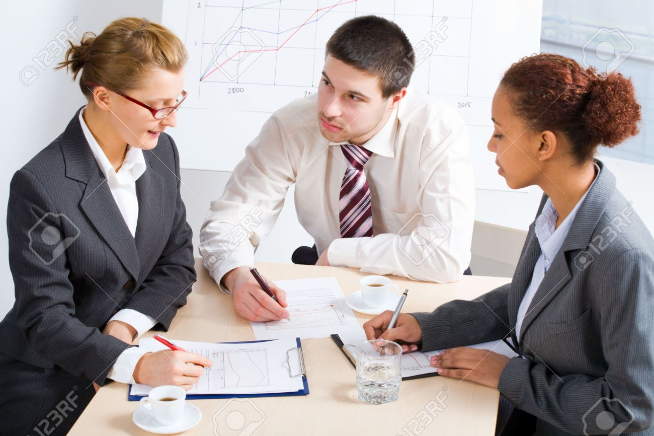 pictures of people working Business People Working Together. A Diverse Work Group Stock Photo ...