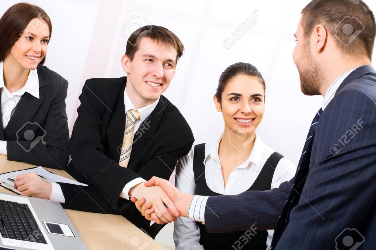 Shaking hands of two business people Stock Photo - 10672354