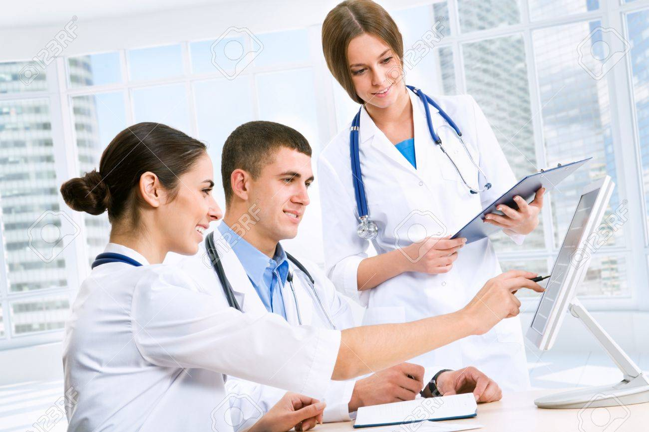 Young doctors in the workplace Stock Photo - 12509202