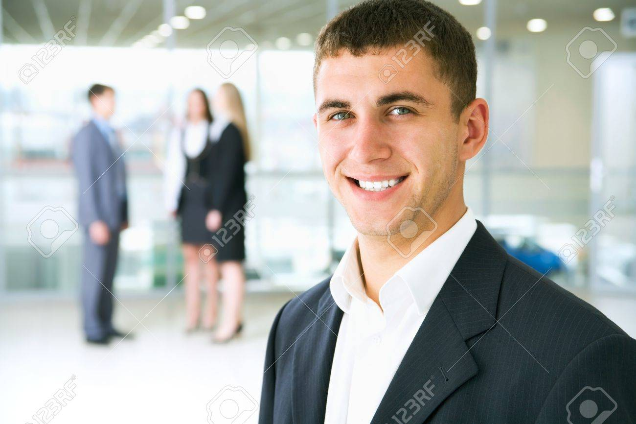 Young businessman in modern office Stock Photo - 12836710