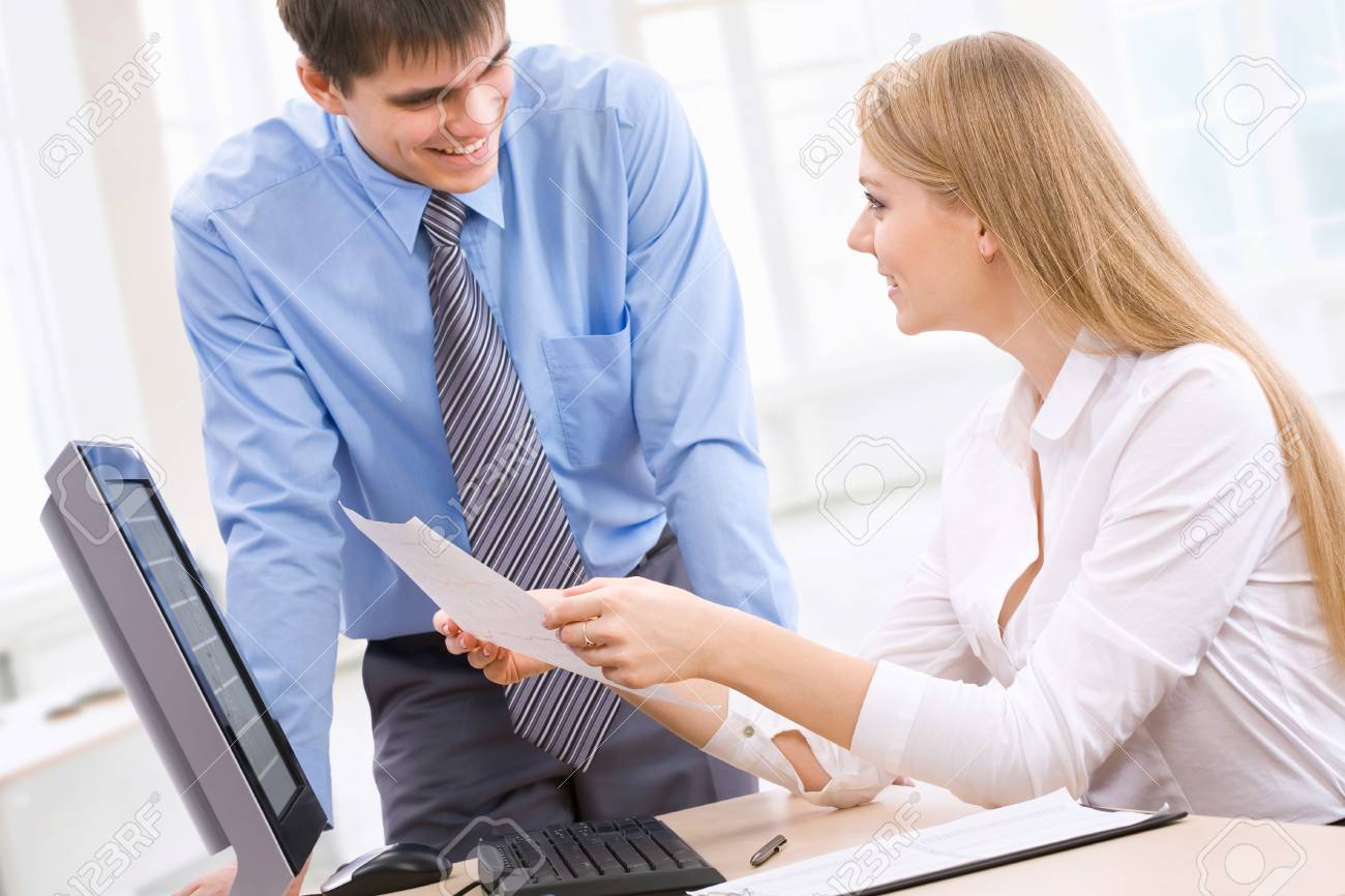 Young business people working in the office Stock Photo - 13541701