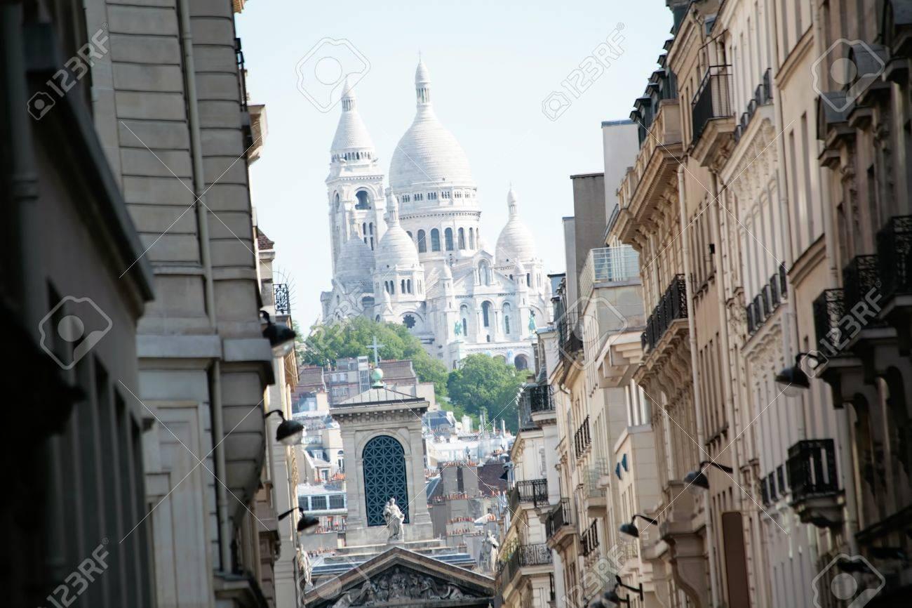 Basilique Of Sacre Coeur Montmartre Paris France Stock Photo