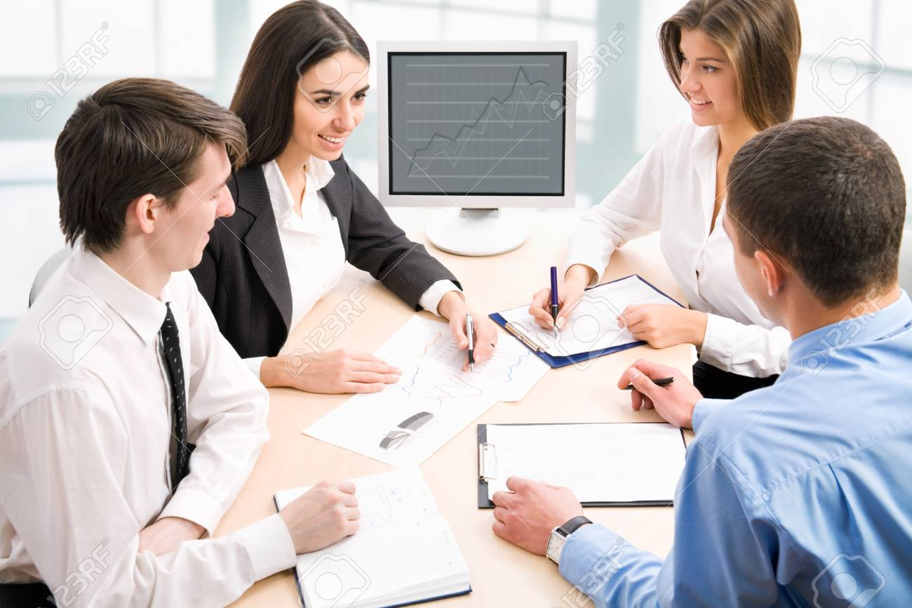 Young business people are working in the meeting room. Stock Photo - 13849590