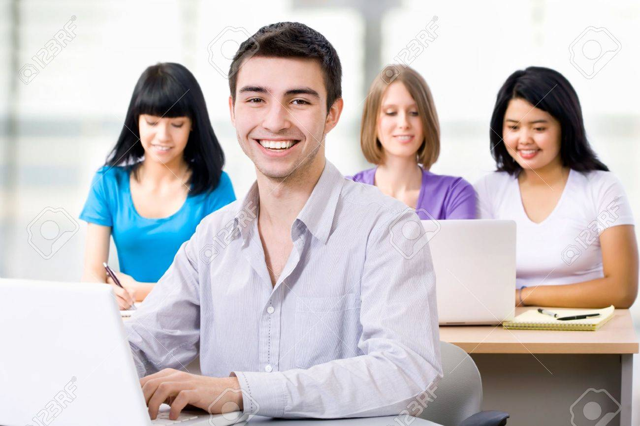 Portrait of smiling student in training course Stock Photo - 14735059