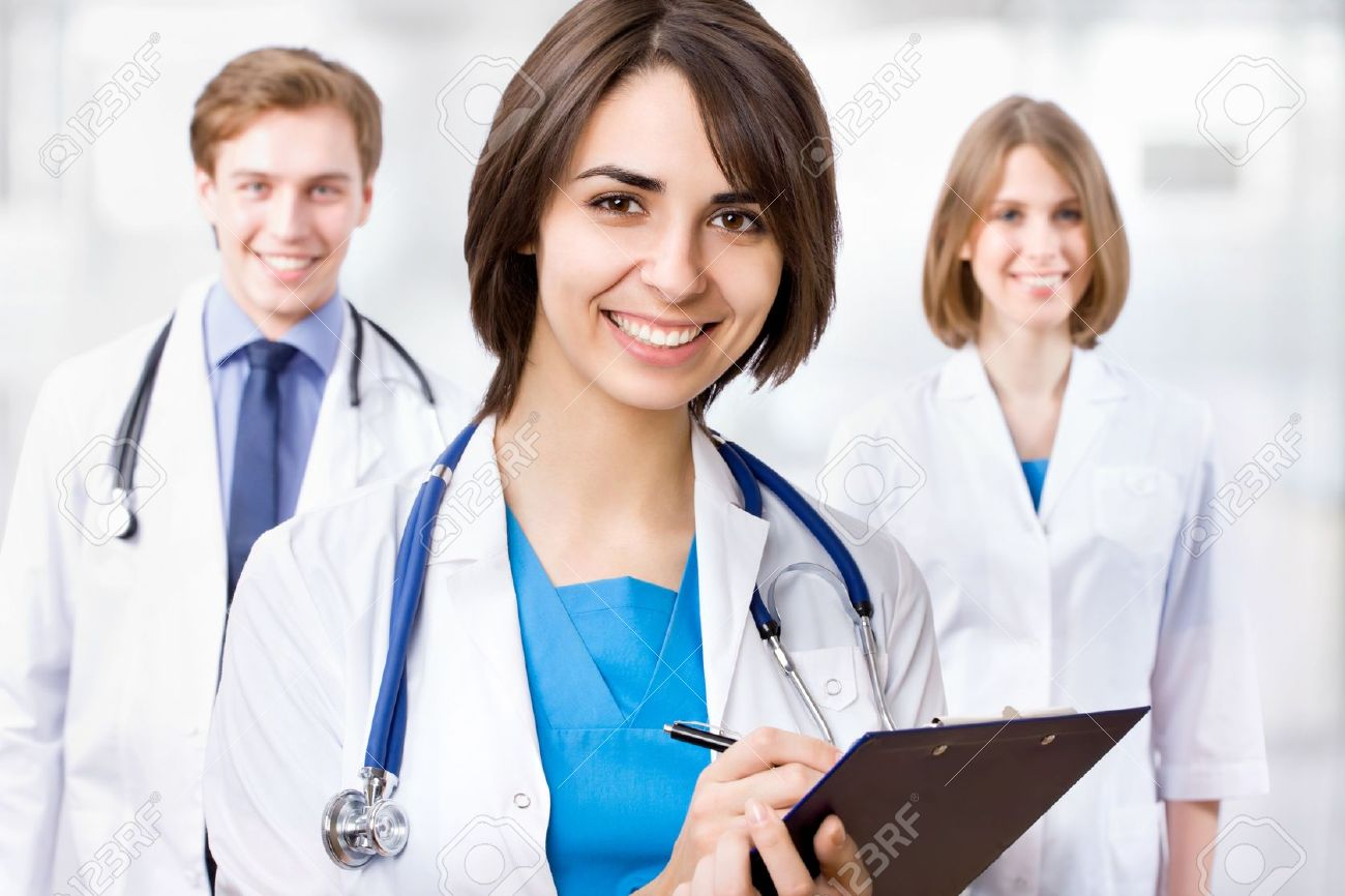 Young female doctor and her colleagues - 14919934