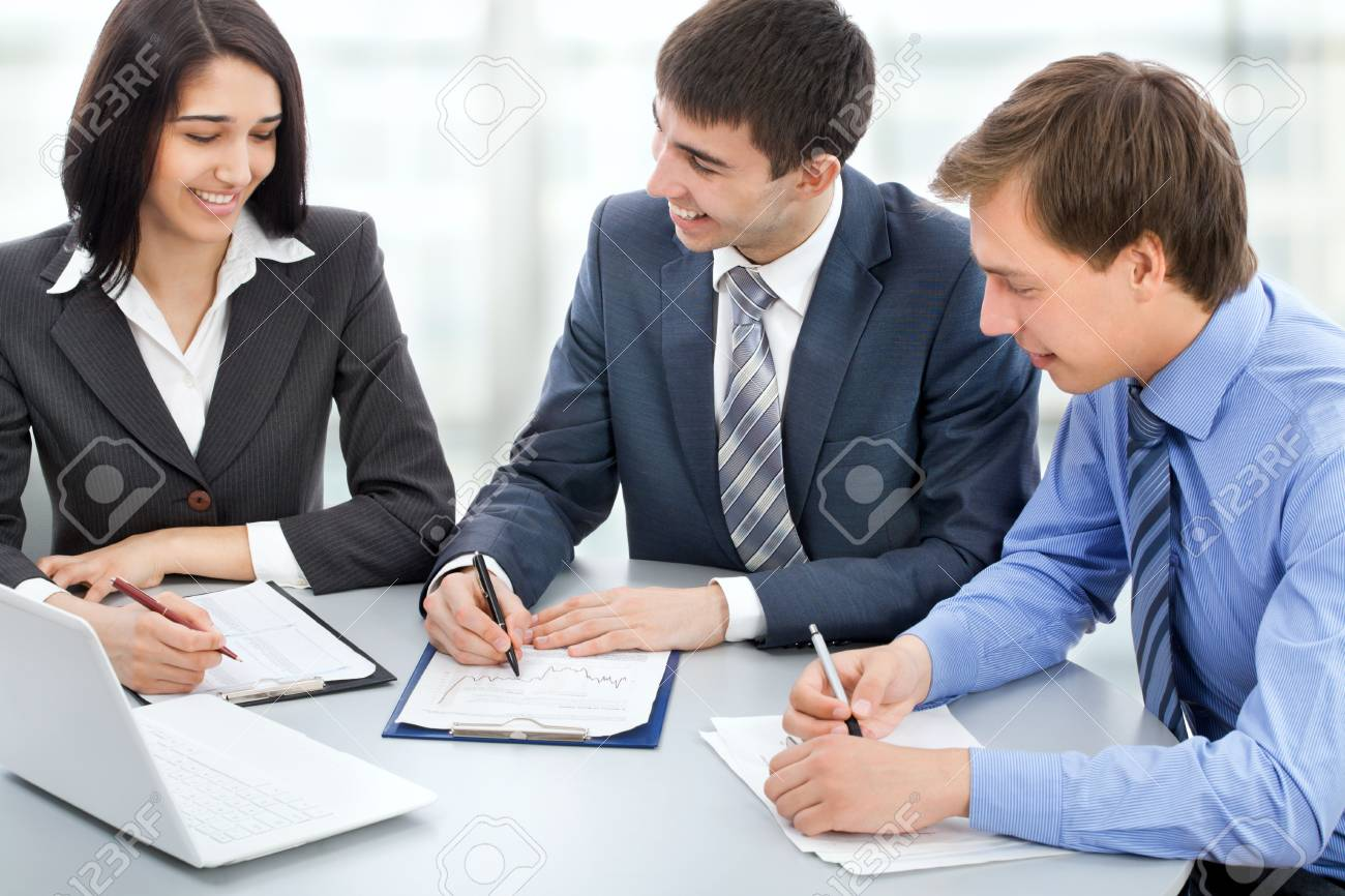 Young business people are working in the meeting room. Stock Photo - 17516860