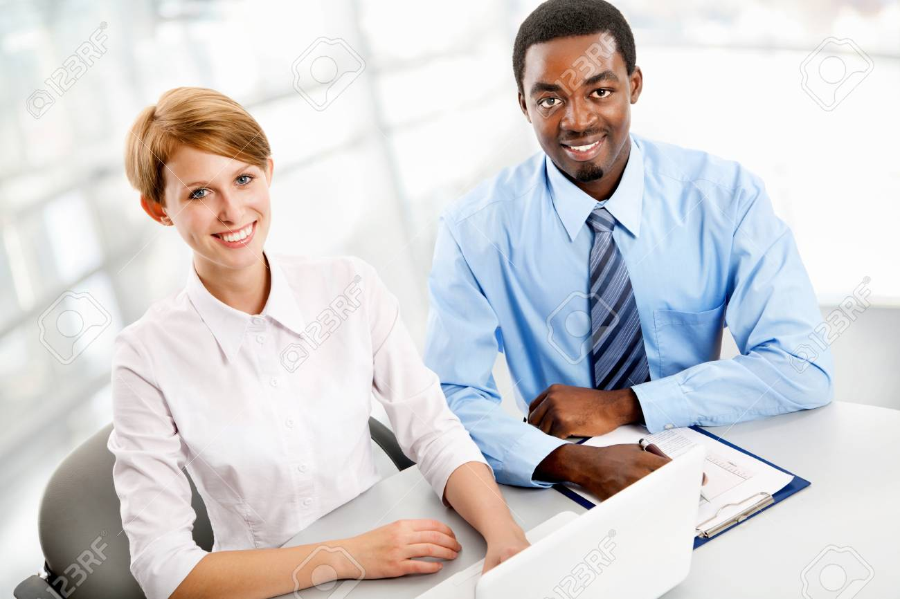 Business people working together. A diverse work group. Stock Photo - 19562709