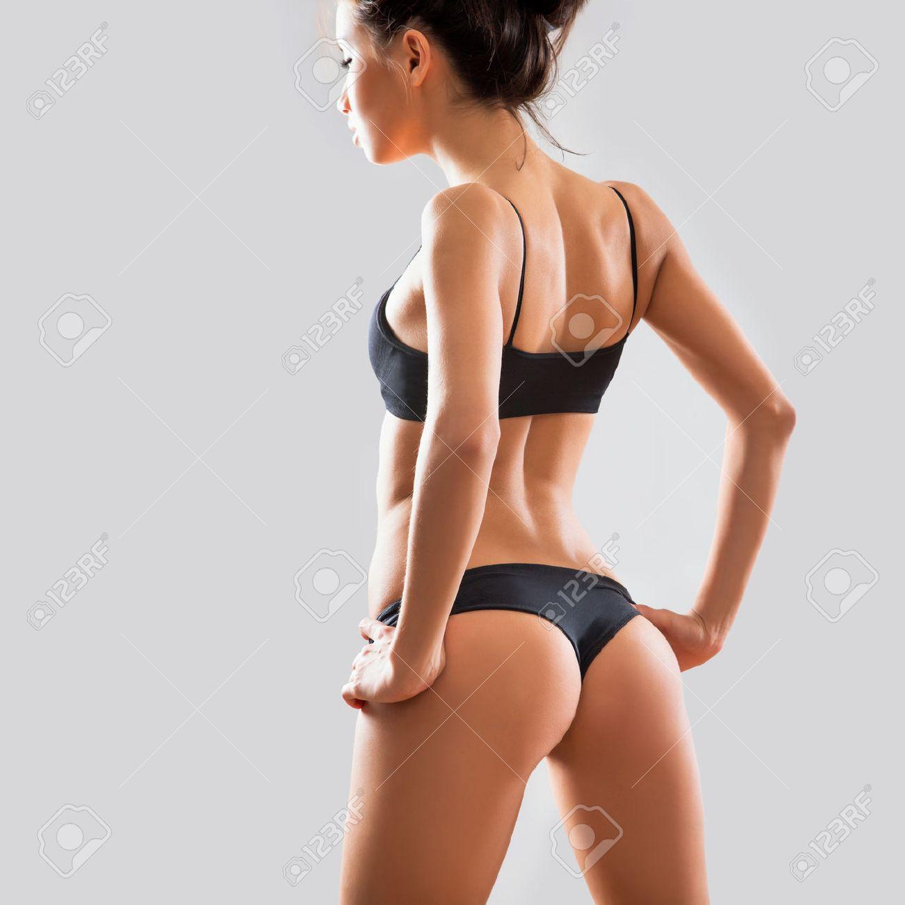 Schöne Frau In Sexy Dessous Lizenzfreie Fotos Bilder Und Stock