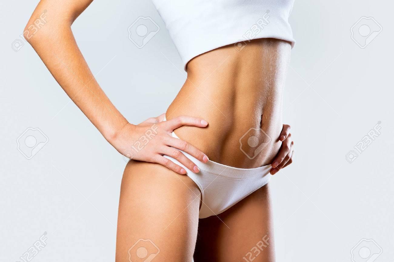 Beautiful slim body of woman in lingerie Stock Photo - 23423626