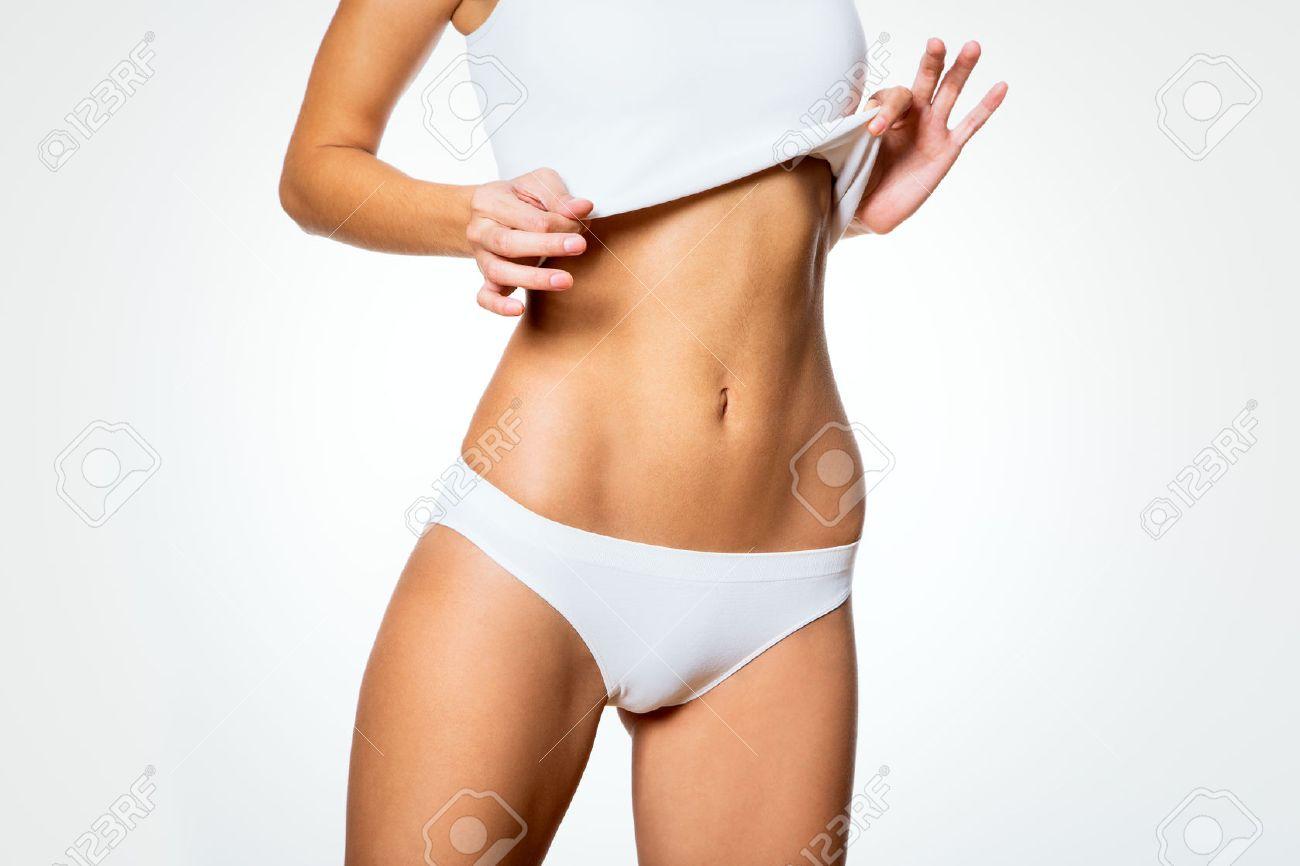 Beautiful slim body of woman in lingerie Stock Photo - 23423630