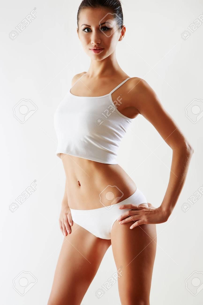 Beautiful slim body of woman in lingerie Stock Photo - 23946713