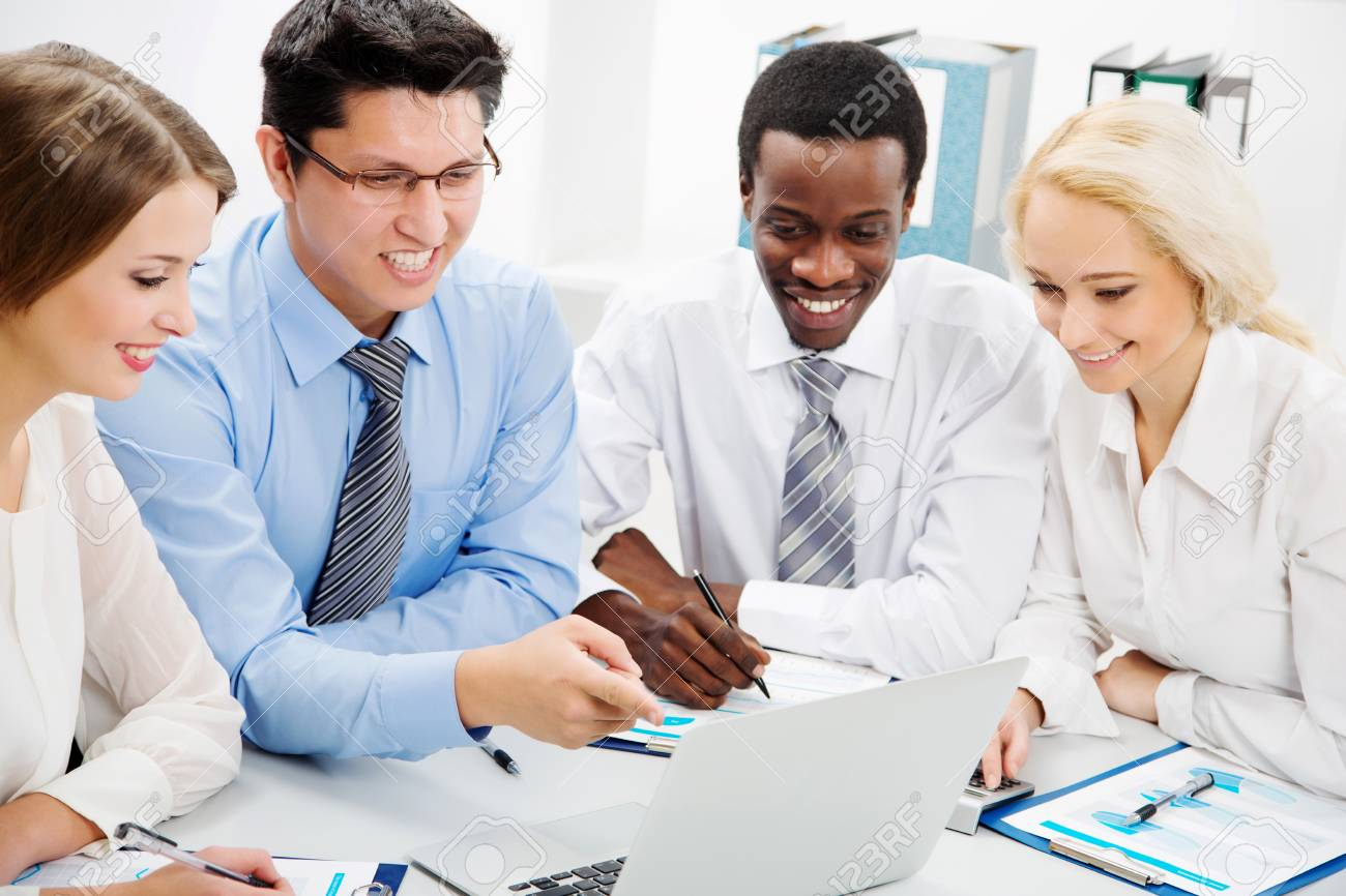 International group of business people working together. Stock Photo - 29890567