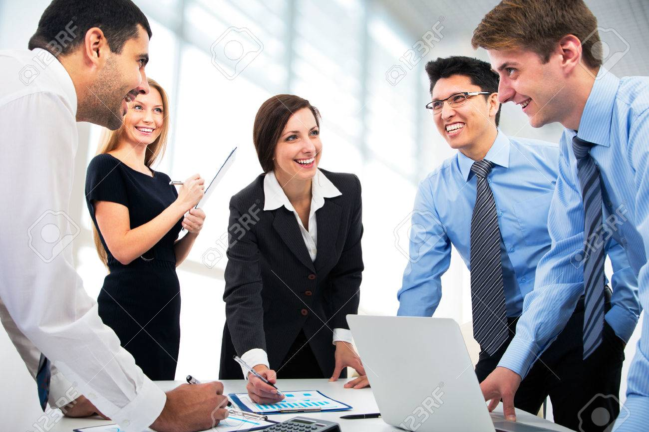 Business People Working Together Stock Photo Picture And Royalty