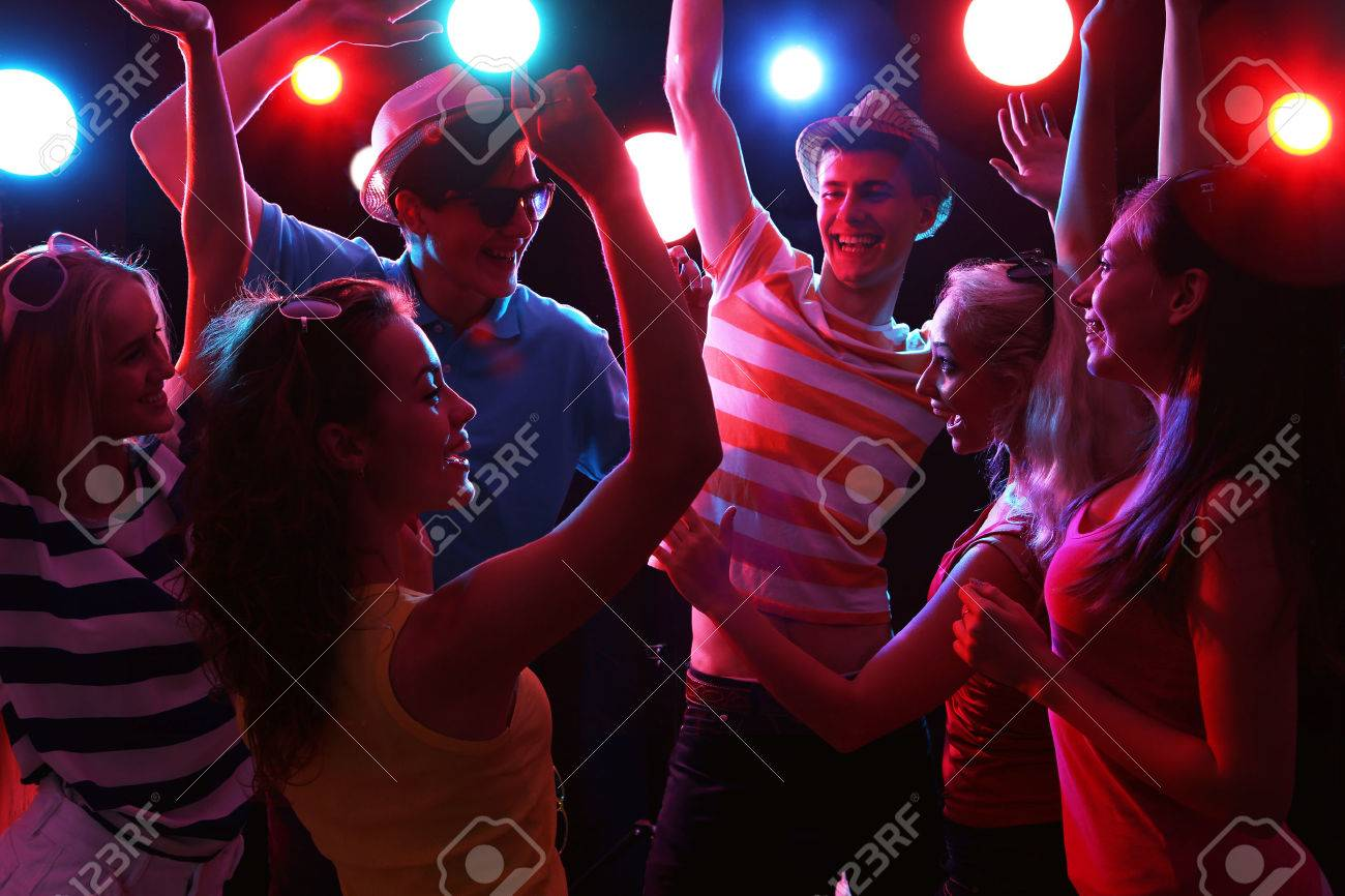Young people having fun dancing at party. Stock Photo - 42150394