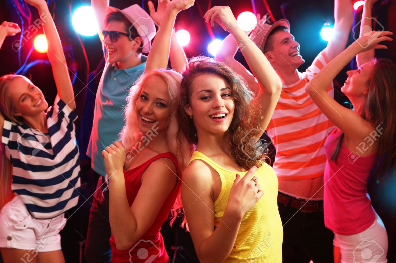 Young people having fun dancing at party. Stock Photo - 42768378