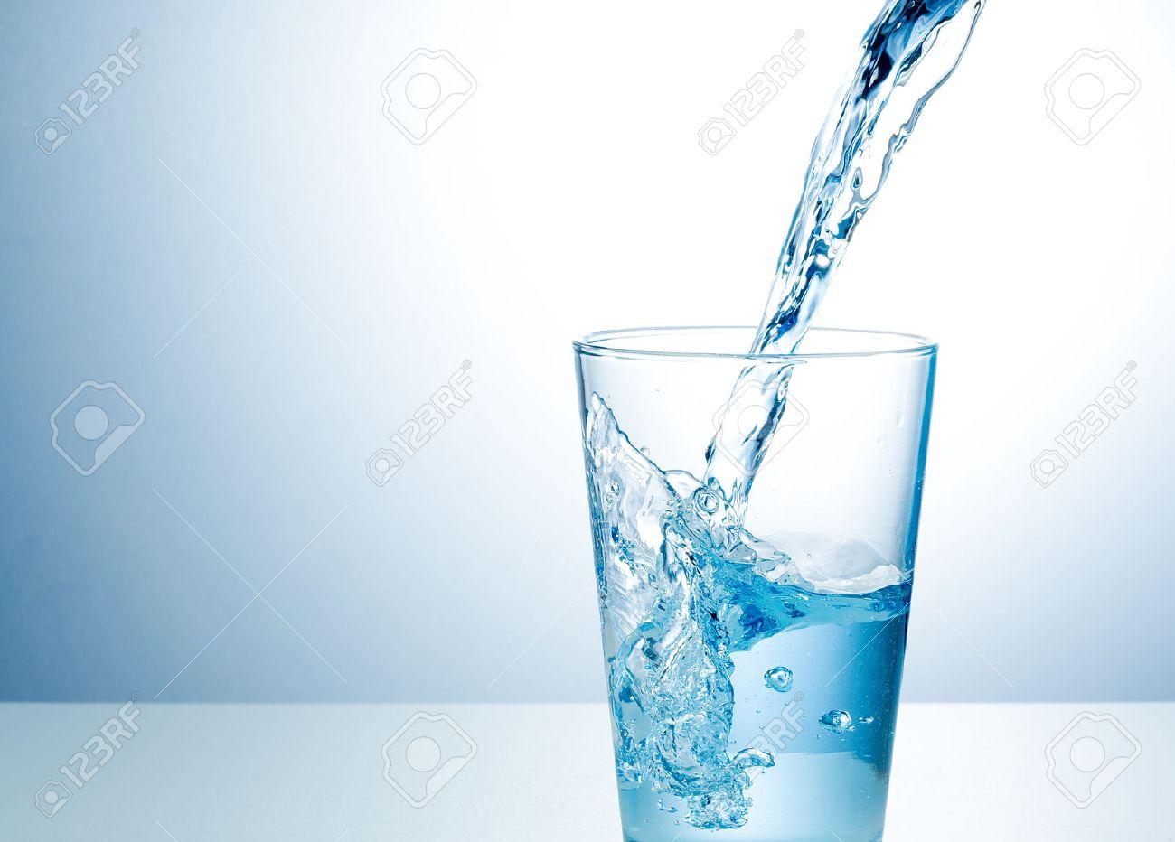 Glass of fresh water Stock Photo - 45934663