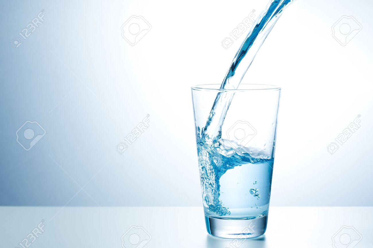 Glass of fresh water Stock Photo - 45934659