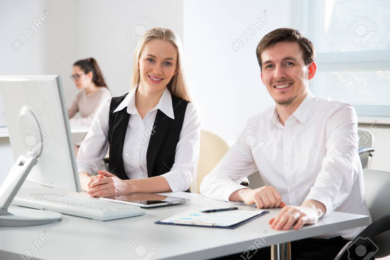 Business People Working Computer